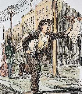 American newsboy c1870 granger